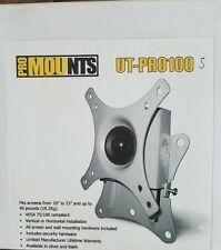 "ProMounts UT-PRO100 10-23"" LED LCD MONITOR 44LBS LOAD Universal Tilt Small NEW"