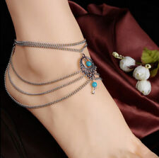 Hot Turquoise Barefoot Sandal Beach Anklet Foot Chain Jewelry Ankle Bracelet*