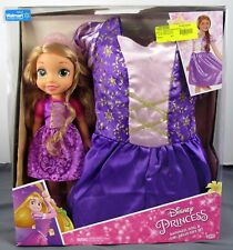 Jakks Pacific Disney Princess Rapunzel Doll & Girl Dress Gift Set Size 4-6x NIP