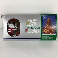 Vintage C9-1/4 Christmas Light String 25 Feet Long C9 Red Replacement Bulbs Incl