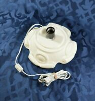 "Light base for 12"" Ceramic Christmas Tree - Atlantic Mold - Vintage White Glaze"