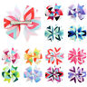 12x Baby Girls Boutique Big Bow Hair Clips Grosgrain Ribbon Alligator Hairpins