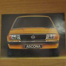 OPEL ASCONA 1.6 S SR Deluxe 2 4 Door Coupe Saloon UK Market Sales Brochure 1970s