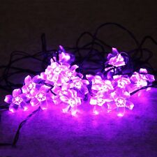 20PCS Cherry Blossom Solar LED String Light 4.85M Garden Outdoor Decoration