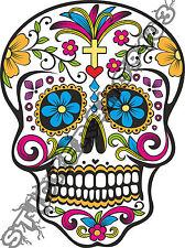 Cool Mexican Sugar Skull vinyl car, van decal stickers