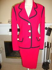 GORGEOUS & RARE $3,790 MOSCHINO COUTURE RED SUIT