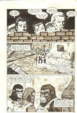 Planet of the Apes: Ape City #14 p.8 - Humans Spying on Apes - 1990 M.C. Wyman