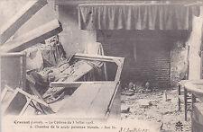 CRAVANT 6 cyclone de juillet chambre de la seule personne bléssée timbrée 1905