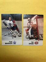 1988-89 Esso NHL All Star Collection 2 Card Lot Ken Dryden & Frank Mahovlich