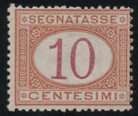 1890 REGNO SEGNATASSE CENT.10 N°21 BUONA CENTRATURA G.I. MNH**
