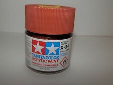 Tamiya Color Acrylic Paint Metallic Brown #X-34 (23 ml) NEW