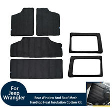 For Jeep Wrangler Rear Window & Roof Heat Insulation Sound Deadener Cotton Kits