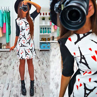 Summer Womens Casual Tunic Mini Dress Cocktail Party Bodycon Sundress Long Tops