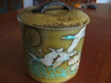 COLLECTABLE VINTAGE TEA ? TIN WITH FLYING GEESE MADE IN MANSFEILD ENGLAND