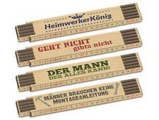 Auswahl Geschenk La Vida Zollstock Meterstab Holz Gliedermaßstab