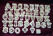 New listing Alphabet & Numbers Cookie Fondant Cutters Complete Wilton Vintage Varsity font