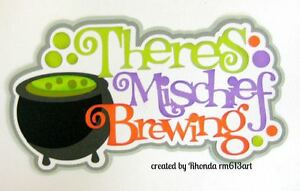 Witch Halloween brew boy girl paper piecing title premade scrapbook by  Rhonda