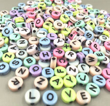 100X Mixed Round Acrylic Letter/ Alphabet Spacer Beads Mixed color 7x 7mm