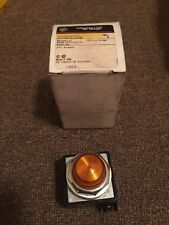NEW IN BOX GENERAL ELECTRIC AMBER INDICATING LIGHT CR104PLG92M