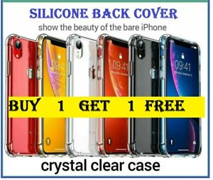 iPhone 5 6 7 8 Plus XR XS CASE ShockProof Soft Phone Cover TPU Silicone - BOGOF