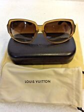 LOUIS VUITTON HONEY BROWN OBSESSION CARRE SUNGLASSES WITH NEW LENSES & CASE