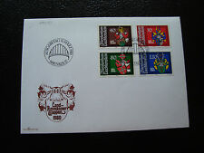 LIECHTENSTEIN - enveloppe 1er jour 8/9/1980 timbre yt n° 684 a 687 (cy35) stamp