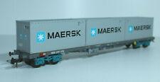 HAG 366 SBB Flachwagen, 4-achsig, mit drei 20-Fuss Containern, MAERSK - mit OVP