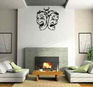 Drama comedy and tragedy masks living room wall sticker - vinyl wall art