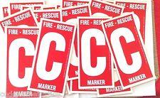 FIRE RESCUE MARKER - 25 CHILD FINDER DECALS - TWENTY-FIVE TOT FINDER DECALS