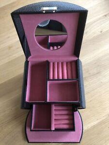 Schmuckkästchen Schmuckkoffer mit 3 Ebenen Schmuckkasten für Mädchen Kinder Rosa