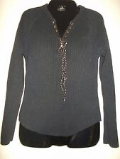 Tommy Hillfiger Jeans Black Ribbed Sweater S/P FREE FAST SHIP