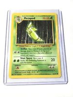 METAPOD - Base Set - 54/102 - Common - Pokemon Card - Unlimited Edition - NM