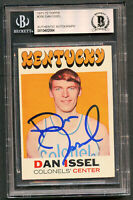 Dan Issel #200 signed autograph auto 1971-72 Topps Basketball Card BAS Slabbed