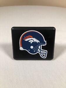 """Denver Broncos 2"""" Hitch Cover NFL Black Automotive Vehicle Accessories"""