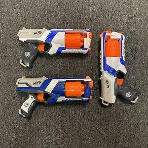 3 NERF Elite Strong Arm Dart Blasters Toy Gun Lot N-Strike