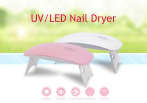 6W SUN Mini Nail Lamp Pink White Nail Dryer Machine UV LED Lamp Portable USB A52