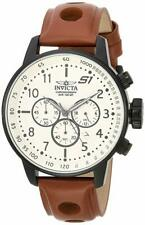 Invicta 23109 Men's 'S1 Rally' Quartz Stainless Steel and Leather Casual Watch