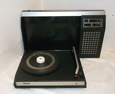 60er 70er Philips Record Player Portable Battery Powered Vintage 60s 70s