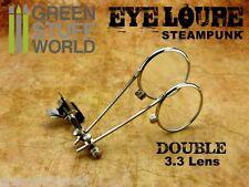 Lentes Steampunk DOBLE lente - Tipo Clip - Lentes Relojero - Cosplay Disfraces.