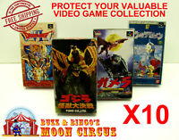 10X NINTENDO SUPER FAMICOM CIB GAME - CLEAR PLASTIC PROTECTIVE BOX PROTECTORS