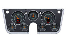 1967-72 Chevy Truck C10 Dakota Digital Retrotech Black Alloy Analog Gauge Kit