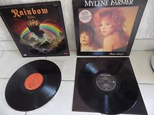 DISQUE VINYLE 33 T RAINBOW RISING / MYLENE FARMER LOT DE 2 ALBUMS