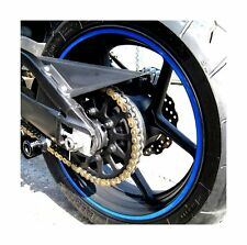 """Blue Reflective Wheel Rim Stripe Decal Tape for Motorcycle Wheels 17"""" or Car ..."""