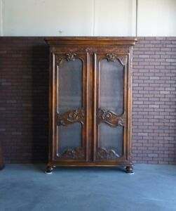 French Provincial Cabinet ~ China Hutch ~ Display Cabinet ~ Bookcase ~ Curio