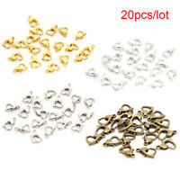 20Pcs Heart Lobster Clasp Hook Jewelry Making Findings DIY Bracelets NecklaDD