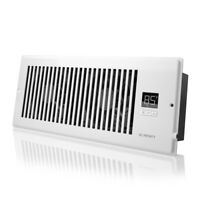 """AIRTAP T4, Quiet Register Booster Fan, Heating / Cooling 4 x 12"""" Registers White"""
