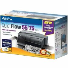 Aqueon QuietFlow 55/75 Power Filter Advanced Filtration System up to 90 Gallons