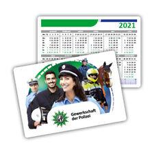 Polizei Kalender Kartenkalender 2021 PLUS1 IPA Aufkleber ~ LIEFERUNG 10/2021 !