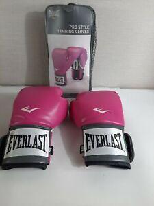 Everlast  Women Boxing Pro Style Training Gloves Pink 8 Oz Level 1