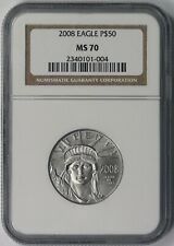 2008 Statue of Liberty Half-Ounce Platinum American Eagle $50 MS 70 NGC 1/2 oz